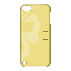 Hibiscus Custard Yellow Apple iPod Touch 5 Hardshell Case with Stand