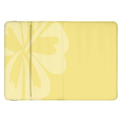 Hibiscus Custard Yellow Samsung Galaxy Tab 8.9  P7300 Flip Case