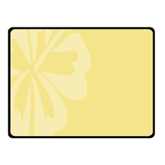 Hibiscus Custard Yellow Double Sided Fleece Blanket (Small)