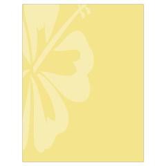 Hibiscus Custard Yellow Drawstring Bag (Large)