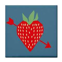 Fruit Red Strawberry Tile Coasters
