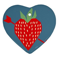 Fruit Red Strawberry Ornament (Heart)