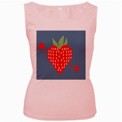 Fruit Red Strawberry Women s Pink Tank Top