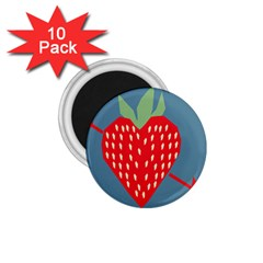 Fruit Red Strawberry 1.75  Magnets (10 pack)