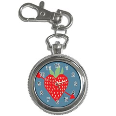 Fruit Red Strawberry Key Chain Watches