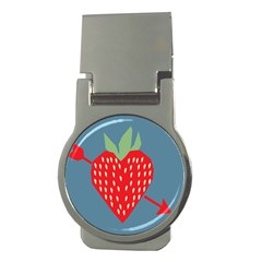 Fruit Red Strawberry Money Clips (Round)