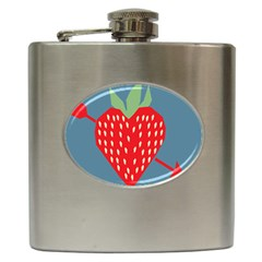 Fruit Red Strawberry Hip Flask (6 oz)