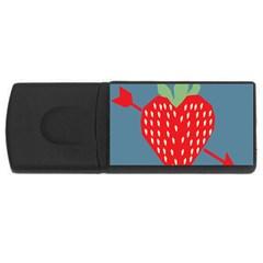 Fruit Red Strawberry USB Flash Drive Rectangular (2 GB)