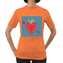 Fruit Red Strawberry Women s Dark T-Shirt