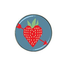 Fruit Red Strawberry Hat Clip Ball Marker