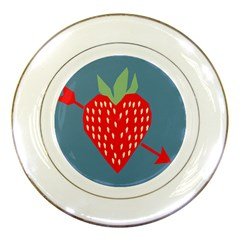 Fruit Red Strawberry Porcelain Plates