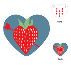 Fruit Red Strawberry Playing Cards (Heart)