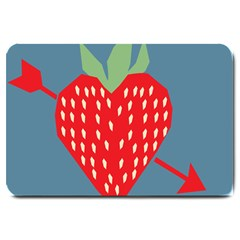 Fruit Red Strawberry Large Doormat