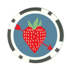 Fruit Red Strawberry Poker Chip Card Guard