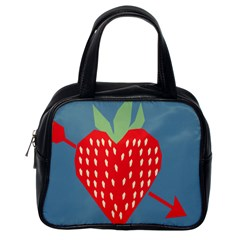 Fruit Red Strawberry Classic Handbags (One Side)