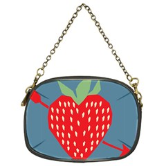 Fruit Red Strawberry Chain Purses (One Side)