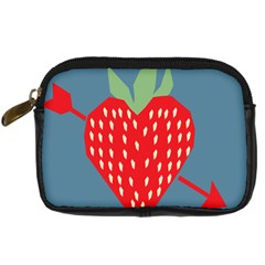 Fruit Red Strawberry Digital Camera Cases