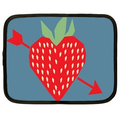 Fruit Red Strawberry Netbook Case (XL)