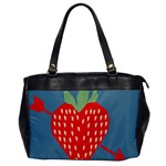 Fruit Red Strawberry Office Handbags Front