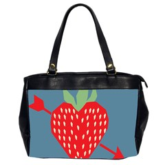 Fruit Red Strawberry Office Handbags (2 Sides)
