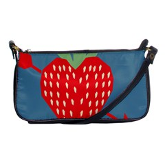 Fruit Red Strawberry Shoulder Clutch Bags