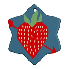 Fruit Red Strawberry Snowflake Ornament (Two Sides)