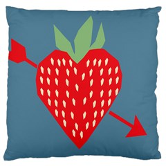 Fruit Red Strawberry Large Cushion Case (One Side)