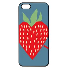Fruit Red Strawberry Apple iPhone 5 Seamless Case (Black)