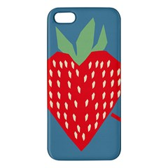 Fruit Red Strawberry Apple iPhone 5 Premium Hardshell Case