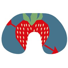 Fruit Red Strawberry Travel Neck Pillows