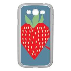 Fruit Red Strawberry Samsung Galaxy Grand DUOS I9082 Case (White)