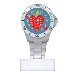 Fruit Red Strawberry Plastic Nurses Watch