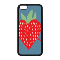 Fruit Red Strawberry Apple iPhone 5C Seamless Case (Black)