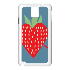 Fruit Red Strawberry Samsung Galaxy Note 3 N9005 Case (White)