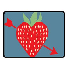 Fruit Red Strawberry Double Sided Fleece Blanket (Small)