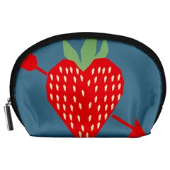 Fruit Red Strawberry Accessory Pouches (Large)