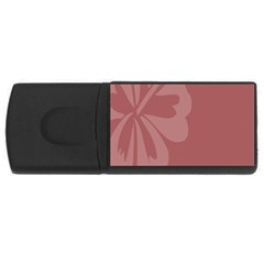Hibiscus Sakura Red USB Flash Drive Rectangular (1 GB)