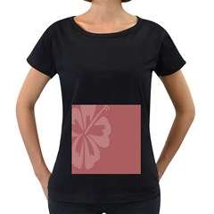 Hibiscus Sakura Red Women s Loose-Fit T-Shirt (Black)