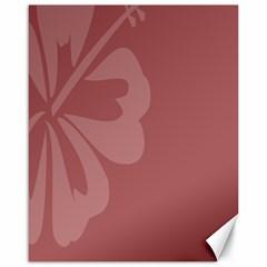 Hibiscus Sakura Red Canvas 16  x 20