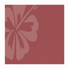 Hibiscus Sakura Red Medium Glasses Cloth
