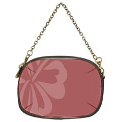 Hibiscus Sakura Red Chain Purses (Two Sides)