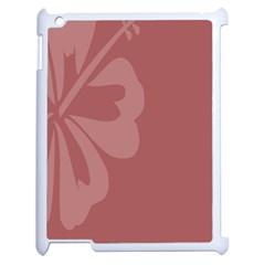 Hibiscus Sakura Red Apple iPad 2 Case (White)