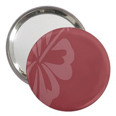 Hibiscus Sakura Red 3  Handbag Mirrors