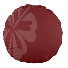 Hibiscus Sakura Red Large 18  Premium Round Cushions