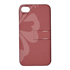 Hibiscus Sakura Red Apple iPhone 4/4S Hardshell Case with Stand