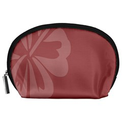 Hibiscus Sakura Red Accessory Pouches (Large)