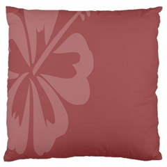 Hibiscus Sakura Red Large Flano Cushion Case (Two Sides)