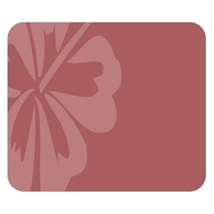 Hibiscus Sakura Red Double Sided Flano Blanket (Small)