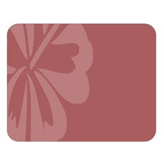 Hibiscus Sakura Red Double Sided Flano Blanket (Large)