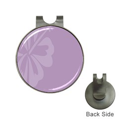 Hibiscus Sakura Lavender Herb Purple Hat Clips with Golf Markers